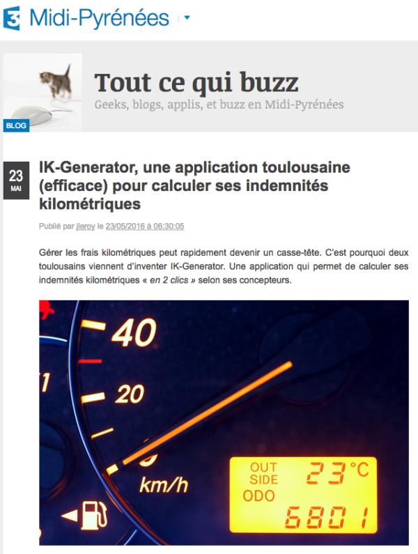 IK-Generator, France 3 Midi-Pyrénées