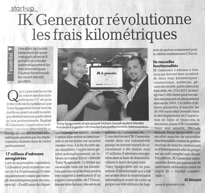 IK-Generator, La Dépêche